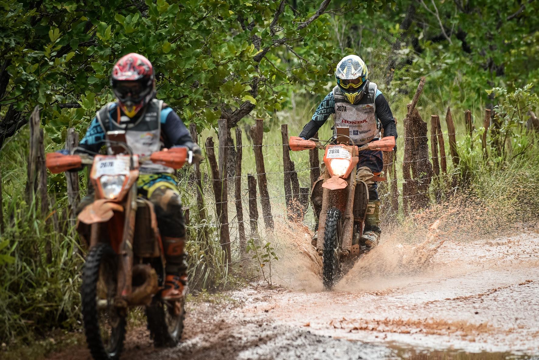 Alto grau de dificuldade continua no Rally Cerapió 2020 para as motos