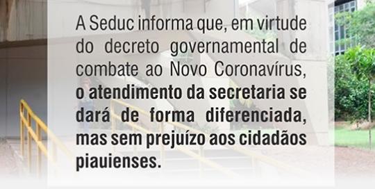 Seduc realiza atendimento virtual para demandas administrativas