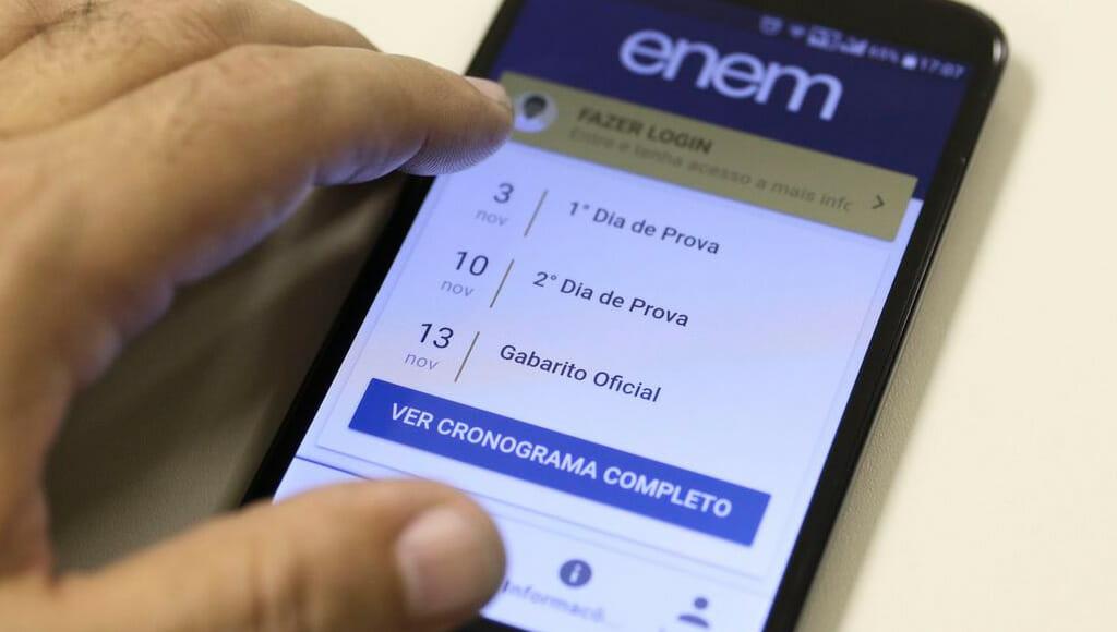 Estudantes podem conferir locais de prova do Enem Digital