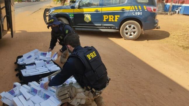 Polícia Rodoviária Feeral do PI apreende carga de smartphones no Sul do estado