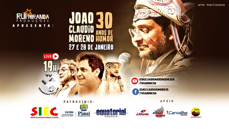 É HOJE LIVE, JOÃO CLÁUDIO MORENO 30 ANOS DE HUMOR